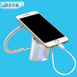 Wholesale tablet security display stand - Free DHL 24 sets lot Charge Alarm Cell Phone Stand Mobile Phone Tablet PC PAD Security Display ABS Magnetic Desktop Beveled Vision