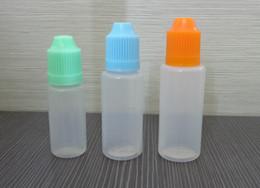 Botella de punta de aguja de 5 ml online-Ego Solf botella de aguja PET / PE botella 5ML 10ml 15ML 20ML 30ML 50ML botella cuentagotas Empty E botella líquida tapa a prueba de niños con pin largo Consejos