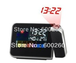 Wholesale Cheap Desktop Clocks - Free Shipping High Quality With Cheap Price Mini Desktop Multi-function Weather Station Projection Alarm Clock 8783 order<$18 no tracking