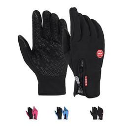 Wholesale Red Climbing Gloves - S5Q Men Women Winter Waterproof Outdoor Climbing Slip Warm Gloves Touch Gloves AAAFUR