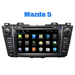 Wholesale Gps Navigation System Mazda - 2 Din Car GPS Navigation System In Car Dvd CD Players for Mazda 5 2009 2010 2011 2012 with Android Quad Core Radio Bluetooth