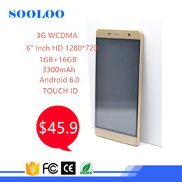 Wholesale Core Manufacturers - Low Price Fingerprint Touch ID 6inch 1GB RAM 8GB ROM 8MP HD Camera 3G WCDMA Mobile Smartphone Android China Manufacturer
