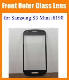 Wholesale Galaxy S Mini Covers - For Samsung Galaxy S3 Mini i8190 Front Outer Glass Lens Screen replacement Digitizer Touch Screen Cover Blue White blue black pink SNP012