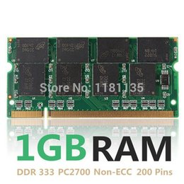 Wholesale Ddr 1gb Ram Memory - New 1GB DDR333 PC2700 Non-ECC Cl2.5 Laptop Computer PC DIMM Memory RAM 200 Pins