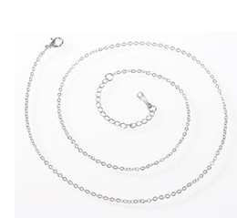 Wholesale Necklace Chain Distribution - Drop shipping charm necklaces jewelry,1.2 MM titanium stainless steel necklace,fashion distribution chain jewelry,cheap jewelry.15pcs.JS