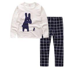 Wholesale kids winter pjs - baby christmas pajamas boys pyjama sets girls cotton sleepwear kids autumn winter pijama children plaid nightgown inside out pjs nightwear