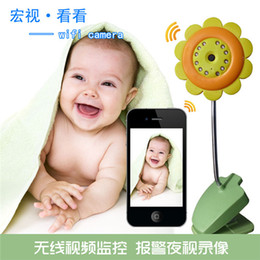 Wholesale Baby Camera Iphone - WIFI baby monitors Camera Night Vision security camera Camcorder Built-in Mic Support Video Record for iPhone and Android Smart Phone