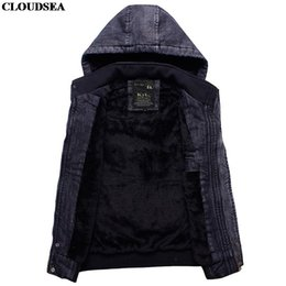 Wholesale Leather Mens Vest - Fall-Hooded Sleeveless Denim Jacket Mens Black Waistcoat Patchwork Leather Thick Tactical Outdoor Vintage Motorcycle Vest