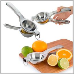 edelstahl manuelle saftpresse drücken Rabatt 100 teile / los Edelstahl Obst Zitrone Lime Orange Squeezer Juicer Manuelle Handpresse Werkzeug