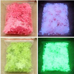 impressão de adesivo de vinil Desconto 100 peças / lote 3 cores Brilho adesivos de parede decalque do bebê Crianças Quarto Home Decor Cor estrelas luminosas fluorescentes