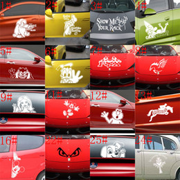 Wholesale Head Board Decal - 25 styles mixed Small Size Car Sticker Cool on Board Car Styling Motorcycle Sticker Vinyl Decal Personalized Waterproof Car Decals