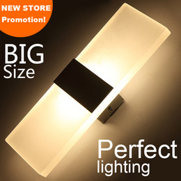 Wholesale Acrylic Walls - LED wall light living sitting room foyer bedroom bathroom modern wall sconce light square Acrylic LED wall lamp
