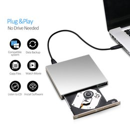 Wholesale driven dvd - External USB DVD drive DVD-RW CD-RW Burner slim Optical Drive CD DVD ROM player Writer For Windows 7 8 10 MAC OS linux+drive bag