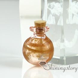 Urne in miniatura online-ciondolo di bottiglie in vetro in miniatura per gioielli ciondoli in ricordo di gioielli in cenere