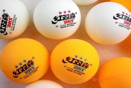 Wholesale Dhs Ball Star - 10Pcs pack DHS 40MM Three-star Level Orange and white Olympic Table Tennis Ping Pong Balls free shipping