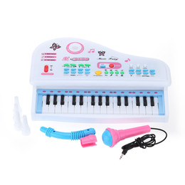 Wholesale Kids Piano Microphone - 31 Keys Electrical Keyboard Electone Music Toy Multifunctional Mini Simulation Piano Toy with Microphone Gift for Children Kids