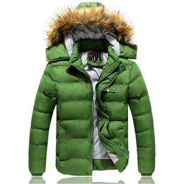Wholesale Ovo Jacket - 2015 new men's winter thick padded jacket hooded coat collar ovo Men Men's Clothing Coats Jackets Down Parkas FG1511