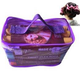 hair rods Promo Codes - At Fashion Bendy Rollers Flexi Rods 42pcs  Set 7 Styles Diy Hair Curling Rods Magic Hair Roller Soft Flex Rods For Hair