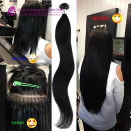 "Wholesale Curly Stick Tip Hair Extensions - HairMagic 100g 18"" 20"" 22"" 24"" Keratin Stick I Tip Human Hair Extensions Brazilian human hai in stock Fast shipping"