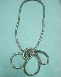 Оптовое гибкое ожерелье онлайн-Оптовая Торговля-(Мин.$10-mix заказ) носить вам нравится носить витой ожерелье 5 мм 90 см длина изгибаемая змея цепи гибкие твист ювелирные изделия ожерелья