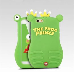 Wholesale Fancier Case - 3D Big Eye Frog Soft Silicon Fancy Case Cute extrusion moving eye Rubber Funny Fundas Cover for Iphone 6 6s plus 7 8 7plus 8 plus x