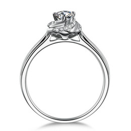 Wholesale Silver 926 - 18k white gold plated 1ct sona Simulated diamond wedding ring sets for women,silver 926 ring sets, promise ring
