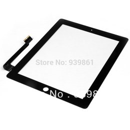 Wholesale Ipad Glass Digitizer Replacement - Wholesale-Black Touch Screen Glass Digitizer Replacement For The New iPad 3 3rd ipad 4 4th Gen + Tools,free shipping