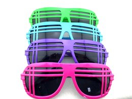 Wholesale Geek Frames - New Arrival Vintage Shutter Shades Geek Sunglasses Fashion Novelty Hip Pop Club Party Sunglasses 12Pcs Lot Free Shipping
