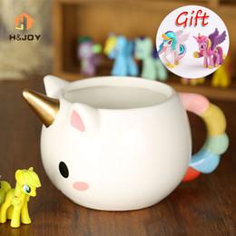 Wholesale Magical Coffee Cup - Cartoon Unicorn Mug 3d Ceramic Coffee Cup Children Girl Creative Cute Gift Wild Finding Magical Horse Cups Magichome Christmas