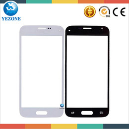 Wholesale Galaxy Spare Parts - Wholesale-Black   White Replacement LCD Mirror Spare Parts for Samsung Galaxy S5 mini G800 Outer Glass Lens, Free Shipping