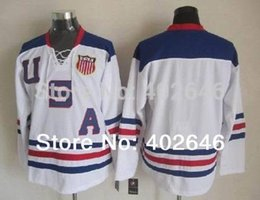 Wholesale read chart - 30 Teams-Wholesale 2010 Olympic Team USA blank white ice hockey jerseys, please read size chart before order