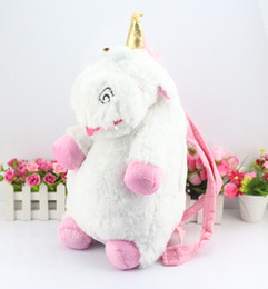 Wholesale Despicable Unicorn Backpack - Despicable Me Unicorn Backpack Despicable Me unicorn bag plush unicorns toy backpack toys for girls kids birthday gift Retail