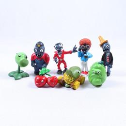 Wholesale Plants Vs Zombie Figure Set - 8pcs set anime figure PVC Plants vs. Zombies PVZ Peashooter Squash Cherry Bomb Zombies Kids Gifts for Children 8CM