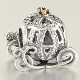 Encantos de salida online-Pacco Fit Pandora Pulseras Charms Beads 925 Joyería de plata esterlina Venta al por mayor Outlet Cinderella Cart SILVER CHARM DIY European 2015