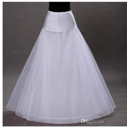 Wholesale Cheapest Wedding Gowns - Hot sale Cheapest A-Line White Wedding Petticoats Free Size Bridal Slip Underskirt Crinoline White For Wedding Dresses