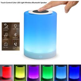 Wholesale Free Bedside Table - LED Table Lamp Wireless Bluetooth Speaker Touch Sensor Bedside Lamp Portable Multifunctional Speaker Changing Color Hands-free Speakerphone