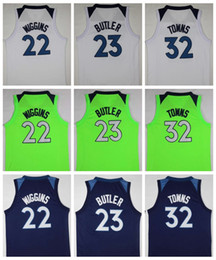 Wholesale Blue Jimmies - 2018 NEW 23 Jimmy Butler Jersey 32 Karl-Anthony Towns 22 Andrew Wiggins Basketball Jerseys Mens Green Blue College Shirts Sale