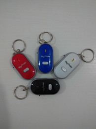 Wholesale Remote Control Chain - Free DHL Remote Key Finder Locator Find Lost Keys Mobile Chain Mobile finder Purse Finder Keychain Whistle Sound Control With ON OFF Switch