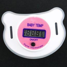 Wholesale Nipple Digital Lcd Pacifier Thermometer - 5pcs Digital LCD pacifier thermometer baby nipple soft safe Popular Worldwide FreeShipping