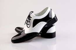 Wholesale White Dress Black Stitching - Black and white stitching Groom Wedding Shoes Man Breathe freely Leather Prom Shoes Business Dress Shoe Single shoes DY:608