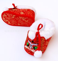 Wholesale Tiger Shoes Wholesale - 2017 Baby tiger head cloth cotton shoes baby soft bottom comfortable warm winter shoes for children