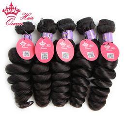 Wholesale Queen Virgin Hair 5a - Queen Hair Malaysian Loose Wave Virgin Human Hair 5pcs lot 100g Bundle 5A Human Hair Free Shiping By DHL