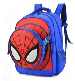 Wholesale Spider Backpack - 2017. New pattern. Children's bags. Knapsack. Kindergarten. Schoolbag. Cartoon. Backpack. Boy. Spider-Man.Oxford cloth.Girl.School Bags.