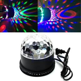 2019 ruotare la palla Edison2011 LED RGB Stage Light Crystal Girante Magic Ball Girasole colorato chiaro Stage Light Party Lamp Disco sconti ruotare la palla