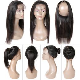 2019 seidenbasisverschluss chinesische jungfrau 360 Spitze Frontal Schließung 8A Spitze Frontals mit Baby Haar natürlichen Haaransatz brasilianische Körperwelle gerade 360 Spitze frontal