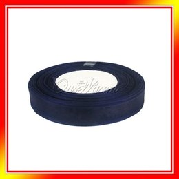 """Wholesale Navy Blue Organza Roll - New 2015, Navy Blue 1 Roll 50 Yards 5 8"""" 15mm Organza Ribbon Bow Craft Wedding Party Gift Decoration"""