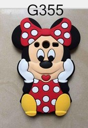 Wholesale Cartoon Casing Galaxy Grand - 3D Mickey Minnie Mouse Silicone gel rubber soft Case For Samsung Galaxy Grand Prime G530 Core 2 G355 A5 LG L70 L90 Cartoon Cute Lovely cover
