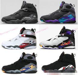 Wholesale Aqua Flats - 2017 air retro 8 VIII Basketball Shoes men high quality Sneakers Cheap Retro VIII Aqua retro 8 Men Sports Boots Free Shipping