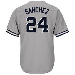 Wholesale High Quality Red Wine - Judge stitched jersey High quality 24 Gary Sanchez 23 Don Mattingly Baseball jerseys Free Shipping M-XXXL 2017 Postseason Patc