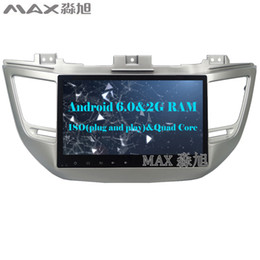 "Wholesale Dvd Hyundai Free Rear - 10.1"" 2G+16G Android 6.0 car dvd player for new for Hyundai tucson 2015 2016 2017 with Radio SWC GPS free map"